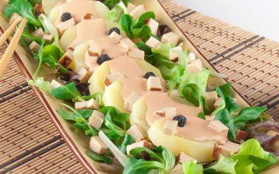 Salat med kartoffel og tofu