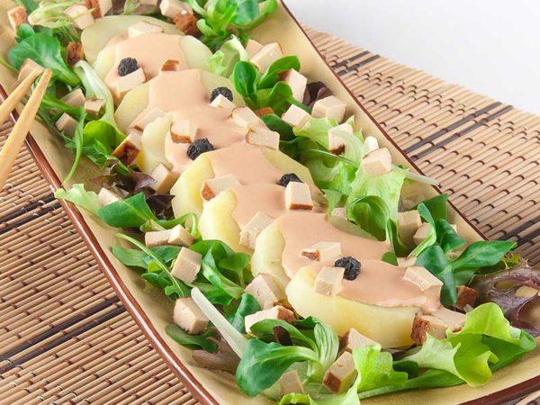 Salat med kartoffel og tofu | Biogan