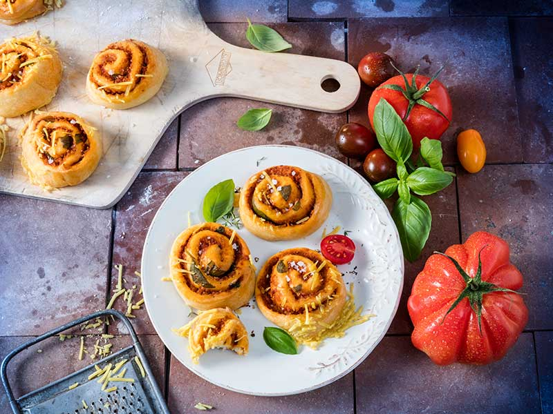 Veganske pizzasnegle | Opskrift fra Biogan