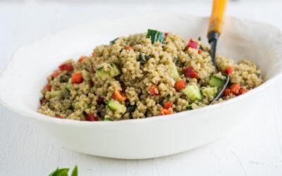 Quinoa Salat med pesto