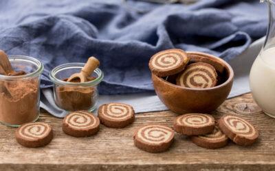Glutenfri kakaosnegle med mandel og kokos
