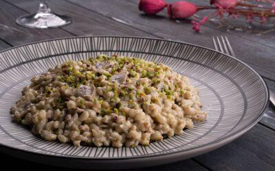 Orzotto med pistaciepesto og svampe